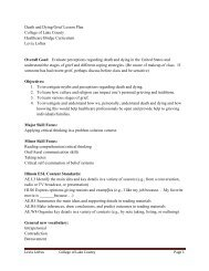 Death and Dying/Grief Lesson Plan - Illinois Community College ...