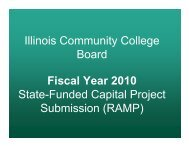 Illinois Community College Board Fiscal Year 2010 State-Funded ...