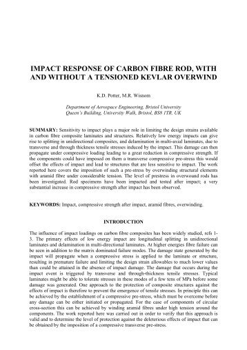 impact response of carbon fibre rod, with and without a ... - ICCM