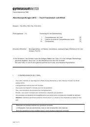 FMS_Examen écrit_2013 - Gymnasium Liestal