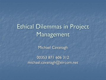 2nd Order Project Management