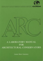 ICCROM - ARC laboratory manual for architectural conservators