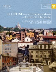 ICCROM and the Conservation Of Cultural Heritage