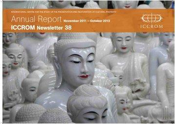 Annual Report 2012 - Iccrom