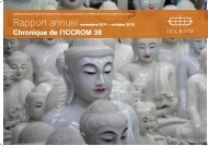 Rapport annuel 2012 - ICCROM