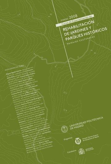 2008 rehabilitación de jardines y parques históricos - Iccrom