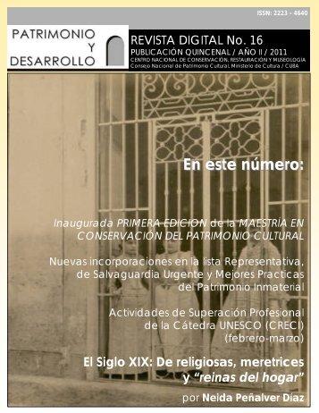 Revista No. 16 2011 - ICCROM