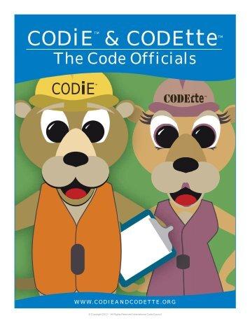 CODiE & CODEtte Children's <b>Activity Book</b> - International Code . - codie-codette-childrens-activity-book-international-code-