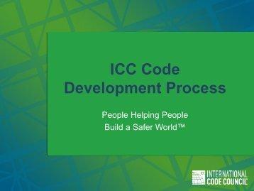 ICC Code Development Process - International Code Council