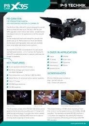 PS-CAM X35 SCreenShoTS Key FeATureS X-oVer in ... - P+S Technik
