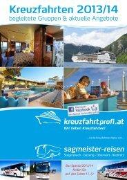 Kreuzfahrtprofi.at & Busreisen 2014 - Sagmeister Reisen