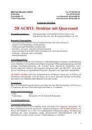 2H ACRYL Struktur mit Quarzsand - Haeussler-dichtstoffe.com