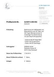 1-1342_Prüfung zur Bestimmung der Haftfestigkeit und ... - Caparol
