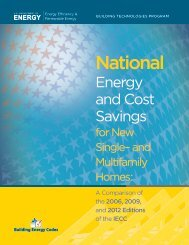 National Energy and Cost Savings for New Single - Building Energy ...
