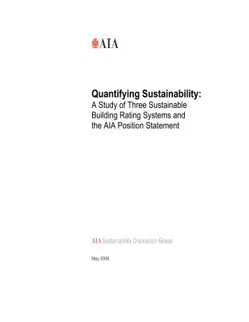 Quantifying Sustainability: - American Institute of Architects