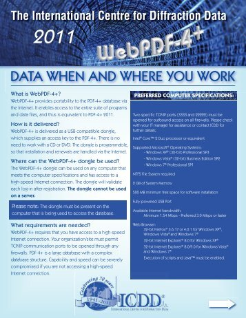 DATA WHEN AND WHERE YOU WORK - ICDD