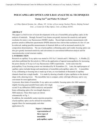 polycapillary optics and x-ray analytical techniques - ICDD