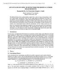 Advantages of Using 2D Detectors for Residual Stress ... - ICDD