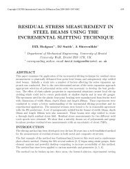 residual stress measurement in steel beams using the ... - ICDD