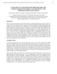 fundamental parameter method for the low energy region ... - ICDD