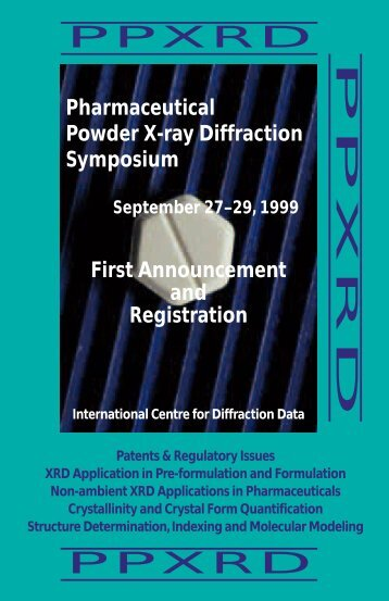See/Download the PPXRD Brochure in Adobe PDF form - ICDD