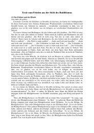Texte zum Frieden aus der Sicht des Buddhismus