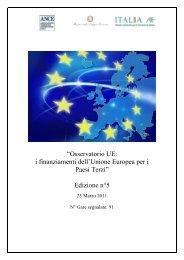 ―Osservatorio UE: i finanziamenti dell'Unione Europea per i ... - Ice