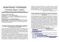 Flurnamenreport 1-2/2013 - Heimatbund Thüringen
