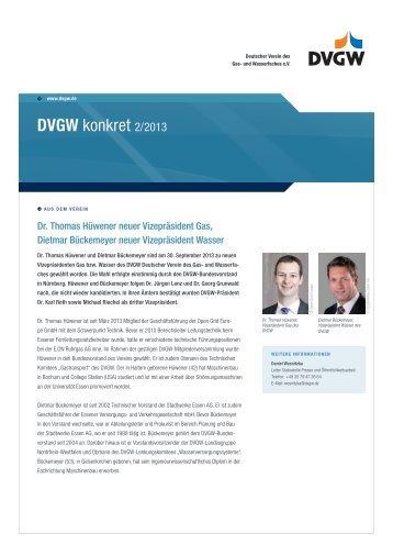 DVGW konkret 2/2013 - DVGW - Deutscher Verein des Gas