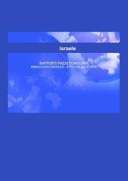 Scheda Paese Israele (fonte ICE) - Consorzio EHT