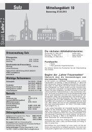 Mitteilungsblatt Sulz 10 / 2013 (application/pdf) - Stadt Lahr
