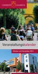 Veranstaltungskalender - Universität Osnabrück