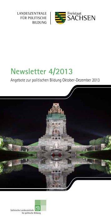 Newsletter 4/2013 - Sächsische Landeszentrale für politische Bildung