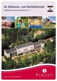 Hausprospekt 2014 - RAMADA Hotel Friedrichroda