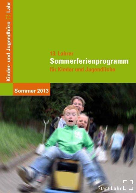 Broschüre Sommerferienprogramm 2013 (application/pdf) - Stadt Lahr