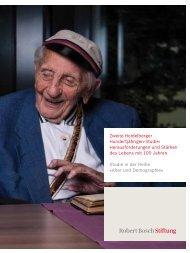 Zweite Heidelberger Hundertjährigen-Studie - Robert Bosch Stiftung