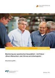 Stress am Arbeitsplatz - Gesundheitsförderung Schweiz