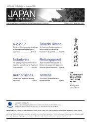 JAPAN auf einen BLICK Nr. 129: November 2008