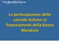 La partecipazione delle aziende italiane ai finanziamenti della ... - Ice