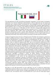 Rapporti economici Italia Russia - Ice