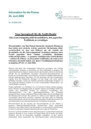 Information für die Presse 26. Juni 2006 Neue Sprengkraft für die ...