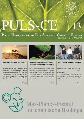 Ausgabe 13 April 2009 - Max Planck Institute for Chemical Ecology ...