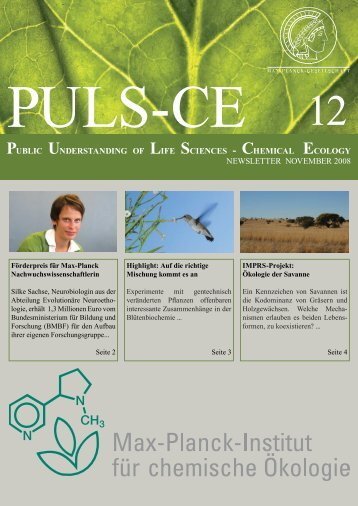 Ausgabe 12 November 2008 - Max Planck Institute for Chemical ...