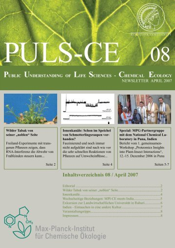 Ausgabe 08 April 2007 - Max Planck Institute for Chemical Ecology ...