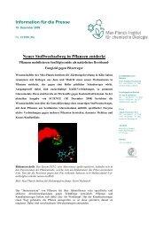 Information für die Presse Neuer Stoffwechselweg in Pflanzen ...