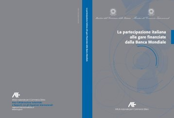 partecipazione italiana alle gare finanziate dalla Banca Mondiale - Ice
