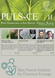 Issue 11 July 2008 - Max Planck Institute for Chemical Ecology