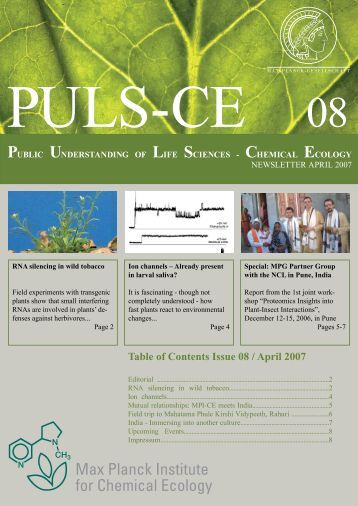 Issue 08 / April 2007 - Max Planck Institute for Chemical Ecology