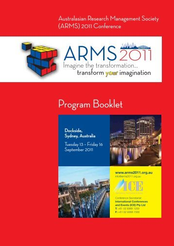 Program Booklet - International Conferences and Events