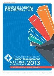Download the AIPM 2013 Sponsorship & Exhibition Prospectus